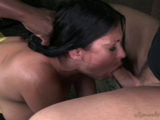 44 Year Old Super Cougar Sheila Marie Is Rope Bound Throated