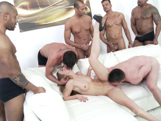 Alexis Crystal mighty group-fucked by many fat lollipops