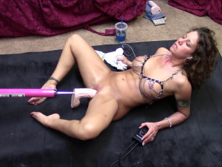Dirty Wife Legs spread and machine fucked (2017)
