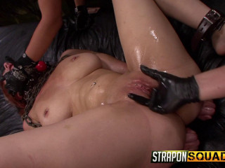 Straponsquad - Apr 15, 2016 - Pain Gimp Super-bitch Alessa Snow Suffers Lesbo domination with Kimber