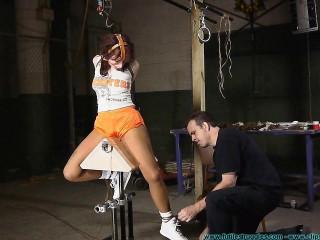 Titties Damsel Rails the  2 part - BDSM,Humiliation,Torture HD 720p