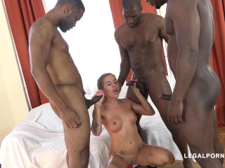 Silvia Dellai Is Back To Get Fucked By 4 Dark-hued Bulls IV099 HD 720p