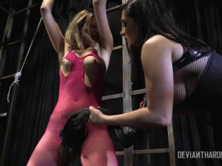 Lean ballerina made to cum by domme Lea Lexis