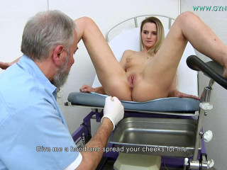Katy Sky 18 years girl gyno exam (2017)