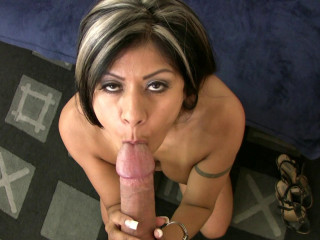 Big boobed babe rides fat cock like a pro