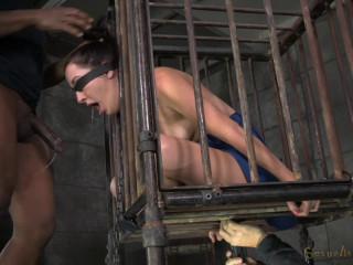 Lady Next Door Marley Blaze Caged In Rigorous Restrain bondage