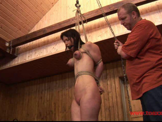 Yvette in a hard Breast Predicament