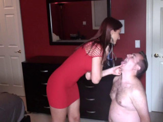 Face Hump a Toilet Cuck in Chastity