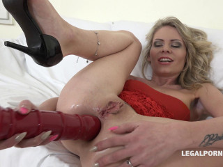 Two big black cocks for perfect blond milf