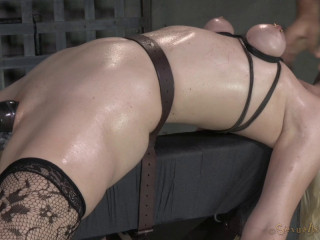 Magnificent Blond Ella Nova Roped Dildoed And Deep-throated