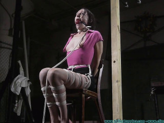 Lil Miss Natalie Hogtied - Scene 2 - HD 720p