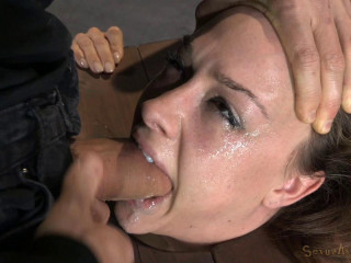 Chanel preston stuck in stocks and worked over by 2 beefsticks