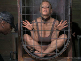 Darling blindfolded, caged and tagteamed by dick!