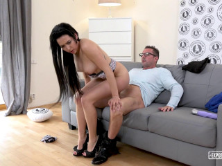 Torrid audition with sensuous squirting Czech stunner Emily Hamilton FullHD 1080p