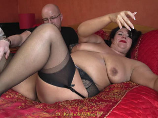 huge tit bbw mature fucked by lucky man in bed