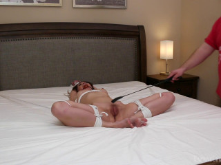Captive Chrissy Marie - Gimp Nymph Tied Spread To The Bed Part 2 (1080p)