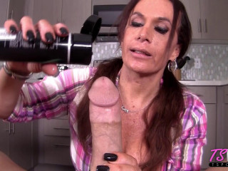 Sucking A Cock In Her Own Kitchen