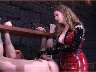 Mistress T - Extraordinary Demeaning Strapped Milking! 720p