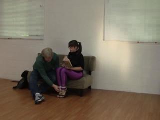Elizabeth Andrews - Tutor Trussed Cock-squeezing in Disco Jeans