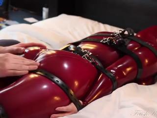 Super bondage, torture and domination for hot slut in latex