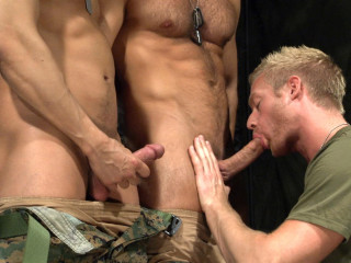 TitanMen off the hook Hunter Marx with Casey Daniels and Archer Quan, and Troy Daniels and Jayden Grey