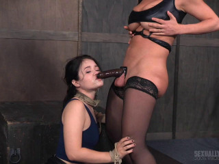 Yhivi Tied to Cage and Porked From Both Completes By Couple!