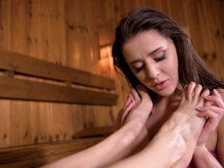 Footsies In The Sauna