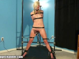 youthfull ash-blonde ejaculation predicament bondage