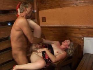 Getting wet in a sauna