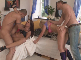 Double Anal Orgy With Russian Girls