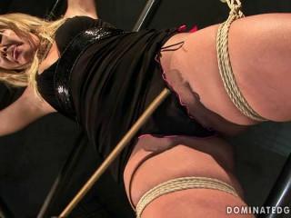 Domination victim Angelic Diamond - Extreme, Bondage, Caning