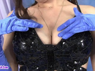 Nipples of a pregnant Sarah