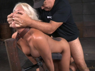 Busty Blonde Holly Heart Shackled Down Doggystyle - HD 720p