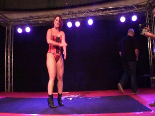 ChickenWing Hogtied On Stage at Venus Fair