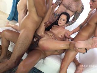 Angie Moon total anal destruction with DP