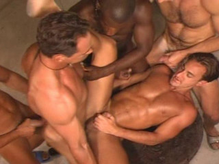 Muscle sailors gangbang at hotel