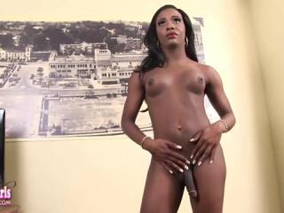 Lea Lipz Strokes Her Big Hard Cock