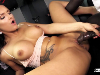 Barbara Bieber - Czech beauty Barbara Bieber fucks black stud Freddy Gong