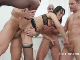 Best Double Anal Orgy For Teen Wet Babe