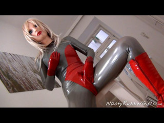 Naughty Rubber Doll, Two Layers, Finger, Dildo, Strip Part One