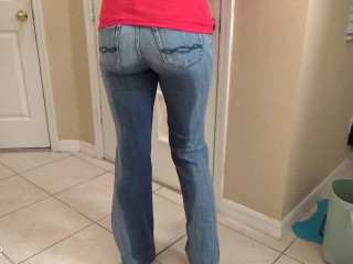 Pissing Her Denim and Floor - Becky Lesabre - HD 720p