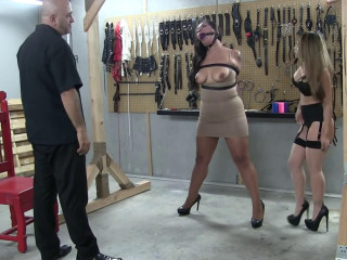 Hard bondage, domination and torture for sexy hot whore