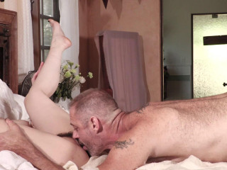 Scene 2.Sexy Audrey Noir in a Threesome with Two Bi Guys