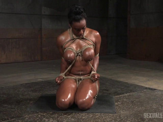 Lisa Tiffian - Cord strapped and oiled throat super-bitch put to use (2016)