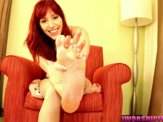 A Molten Ginger-haired With Massive Feet!