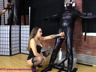 Sasha - Heavy Bondage Ruined Handjob - Two Cumshots Two Angles