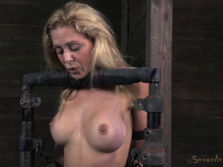 Stunning Cherie DeVille turned into blowjob device , HD 720p