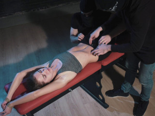 RussianFetish - Target Leya. Neutralizing young fighter by abs tickling