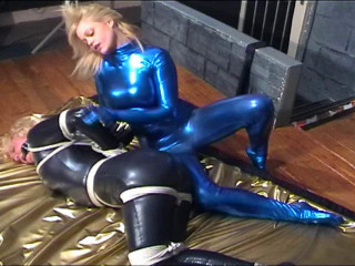 Inxesse - Kerri Corded and Ball-gagged in Lycra Catsuit
