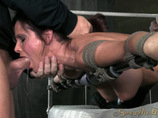 Hot Milf, with amazing ass, suffer rough pounding sex and deep throating
